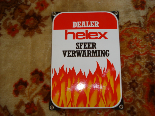 emaille bord helex,porcelain sign, email schild, plaque emaillee